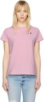 Champion Reverse Weave Pink Small Logo T-Shirt