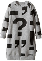 Nununu Punctuation Print Extra Soft A-Line Sweatshirt Dress (Infant/Toddler/Little Kids)
