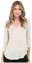 Heather Linen 3/4 Sleeve Swing Tee