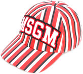 MSGM striped cap - men - Cotton - One Size