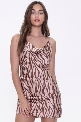 Forever 21 Tiger-Stripe Print Slip Dress