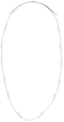 YEPREM 18kt White Gold Diamond Long Necklace