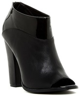 Michael Antonio John Patent Detailed Peep Toe Bootie