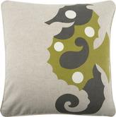 Thomas Paul Amalfi Sea Horse Flax Pillow