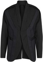 Abasi Rosborough Pinstriped Panelled Wool Jacket