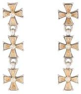 Konstantino Diamond Cross Drop Earrings