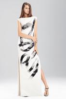 Josie Natori Duchess Satin Boatneck Dress
