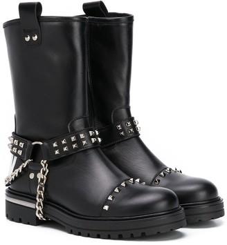 Philipp Plein Stud Embellished Ankle Boots