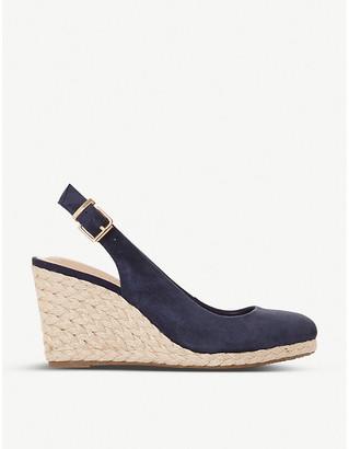 Dune Codi espadrille suede wedge sandals