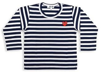 Comme des Garcons Little Kid's Play Kids Striped Logo Shirt