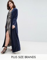 Elvi Navy Velvet Coat