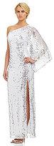 Night Way Sequin Single-Sleeve Gown