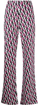Diane von Furstenberg Caspian silk flared trousers