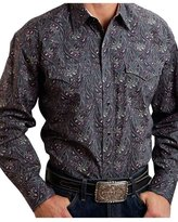Stetson Western Shirt Mens Paisley L/S 2XL 11-001-0425-0779 GY