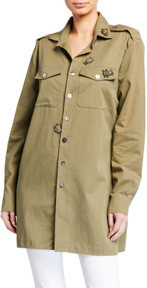 Figue Bug-Embellished Military Shirt