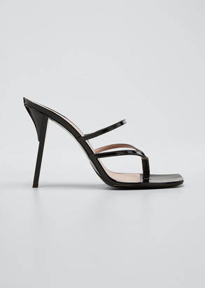 Fenty Patent Leather T-Heel Thong Sandals