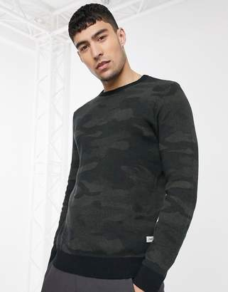 Produkt knitted camo print sweater