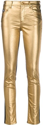 Versace Two-Tone Skinny Jeans