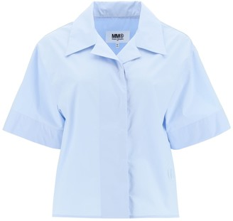 MM6 MAISON MARGIELA Poplin Shirt With Embroidery