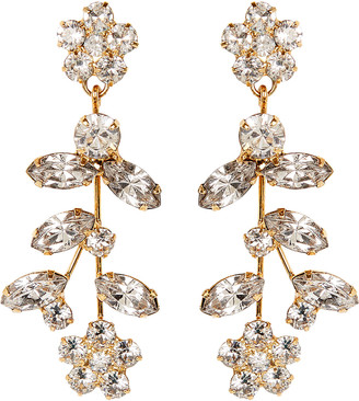 Jennifer Behr Andrea Crystal Flower Earrings