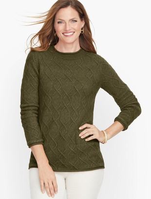 Talbots Cableknit Roll Neck Sweater