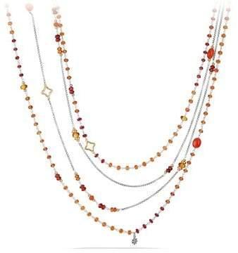 David Yurman Bijoux Bead Necklace With Carnelian, Garnet And 18K Gold