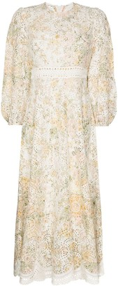 Zimmermann Amelie broderie anglaise floral-print dress