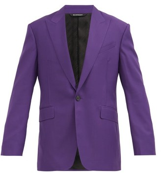 Givenchy Single-breasted Wool-twill Suit Jacket - Purple