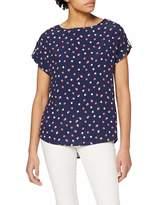 Dorothy Perkins Women's Navy Spot Turn Back T-Shirt 20