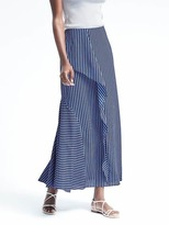 Banana Republic Micro-Stripe Ruffle Maxi Skirt