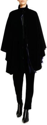 Giorgio Armani Velvet Cape w/ Silk Lining
