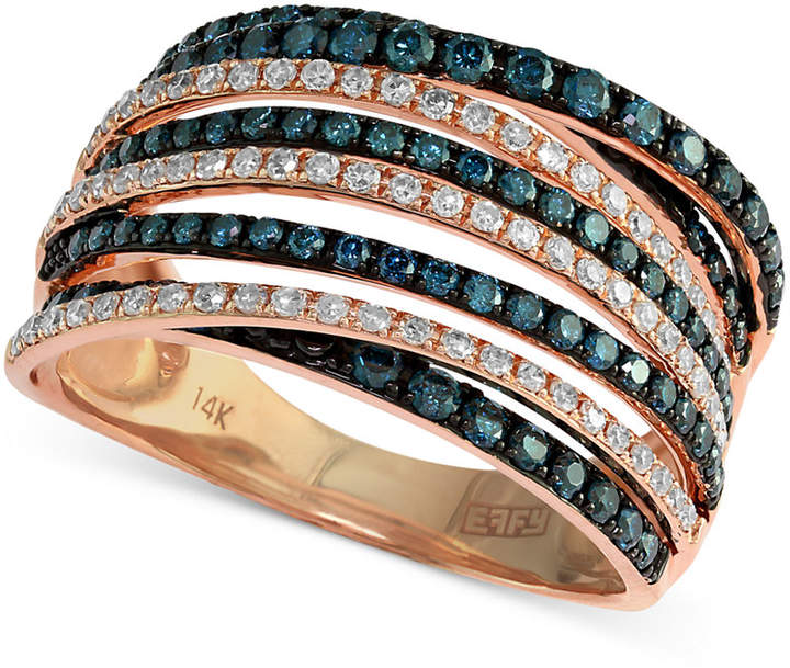 Effy Bella Bleu by Diamond Crossover Ring (1 ct. t.w.) in 14k Rose Gold