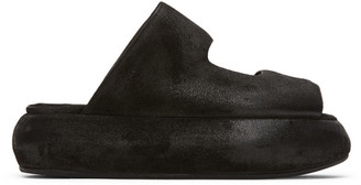 Marsèll Black Distressed Ciambellona Sandals