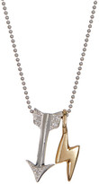 Alex Woo 14K White Gold Little Signs Diamond Arrow Pendant Necklace - 0.03 ctw