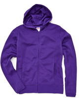 Soffe Purple Fleece Zip-Up Hoodie - Plus Too