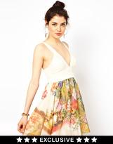 Ginger Fizz Dress with Renaissance Print