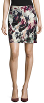 Carven Front Patch Printed Skirt
