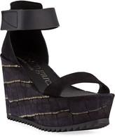 Pedro Garcia Udele Ankle-Strap Wedge Sandals