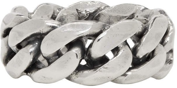 Emanuele Bicocchi Silver Rigid Chain Ring
