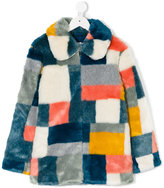 Stella McCartney patchwork fur coat - kids - Acrylic/Modacrylic/Polyester - 10 yrs