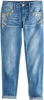 SO Girls 7-16 & Plus Size SO® Rhinestone Embroidered Girlfriend Jeans