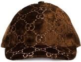 Gucci GG-embroidered silk-blend baseball cap