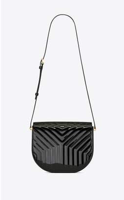 Saint Laurent Joan Satchel In Y-Quilted Patent Leather
