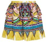 Roberto Cavalli Printed Silk Mini Skirt