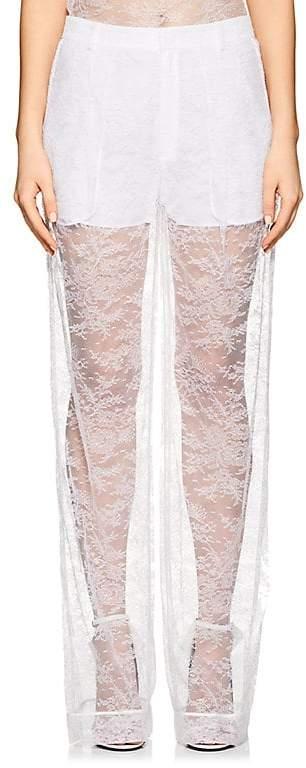 Givenchy WOMEN'S LACE WIDE-LEG PANTS