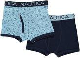 "Nautica Little Boys' Toddler ""Fancy Anchors"" 2-Pack Boxer Briefs"