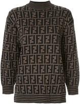Fendi Pre Owned knitted monogram jumper