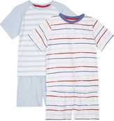 The Little White Company Mariner stripe cotton pyjamas pack of two 1-6 years