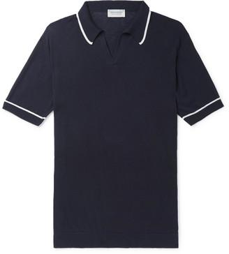 John Smedley Saxon Slim-Fit Contrast-Tipped Sea Island Cotton Polo Shirt