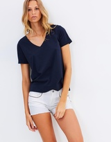 Maison Scotch Embroidered Denim Shorts